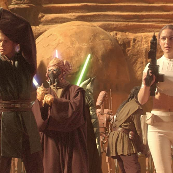 Natalie Portman, Silas Carson, Hayden Christensen, and Matt Sloan in Star Wars: Episode II - Attack of the Clones (2002)
