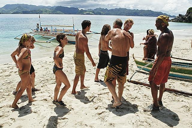 Jonathan Penner, Michael Skupin, Lisa Whelchel, Abi-Maria Gomes, Malcolm Freberg, Artis Silvester, and Denise Stapley in Survivor (2000)