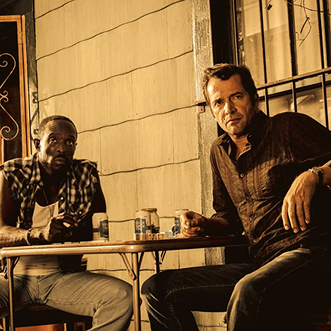 Thomas Jane, James Purefoy, and Michael Kenneth Williams in Hap and Leonard (2016)
