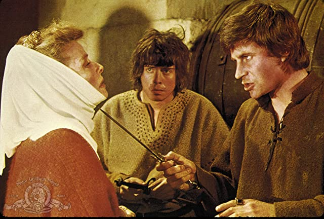 Katharine Hepburn, John Castle, and Nigel Terry in The Lion in Winter (1968)