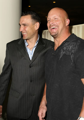 Vinnie Jones and Steve Austin at The Condemned (2007)