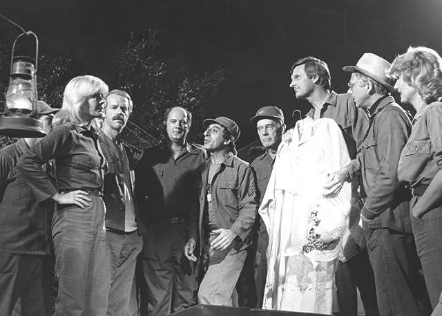 Alan Alda, David Ogden Stiers, William Christopher, Jamie Farr, Mike Farrell, Harry Morgan, and Loretta Swit in M*A*S*H (1972)