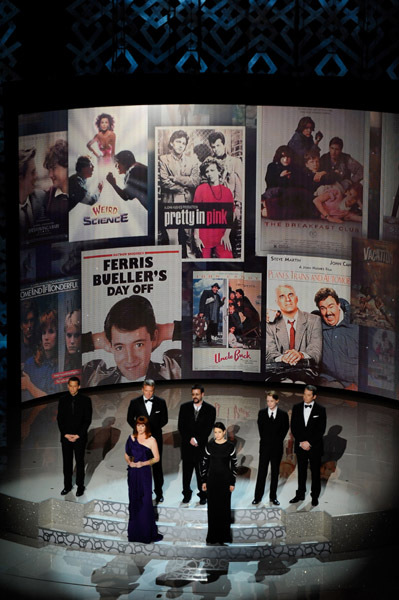 Matthew Broderick, Molly Ringwald, Macaulay Culkin, Judd Nelson, Ally Sheedy, Jon Cryer, and Anthony Michael Hall at an event for The 82nd Annual Academy Awards (2010)