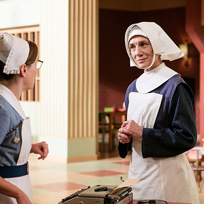 Harriet Walter and Laura Main in Call the Midwife (2012)