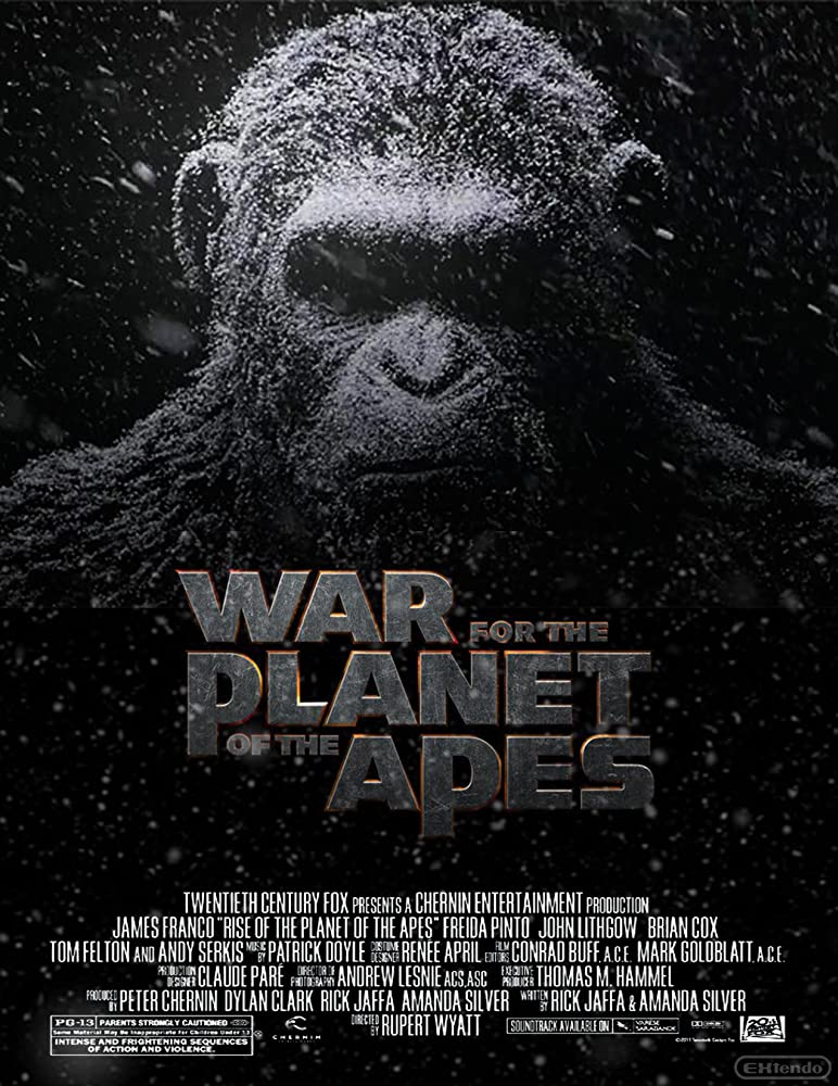 Resultado de imagem para war for the planet of the apes 2017 posters