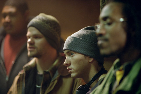 Eminem, Evan Jones, and De'Angelo Wilson in 8 Mile (2002)