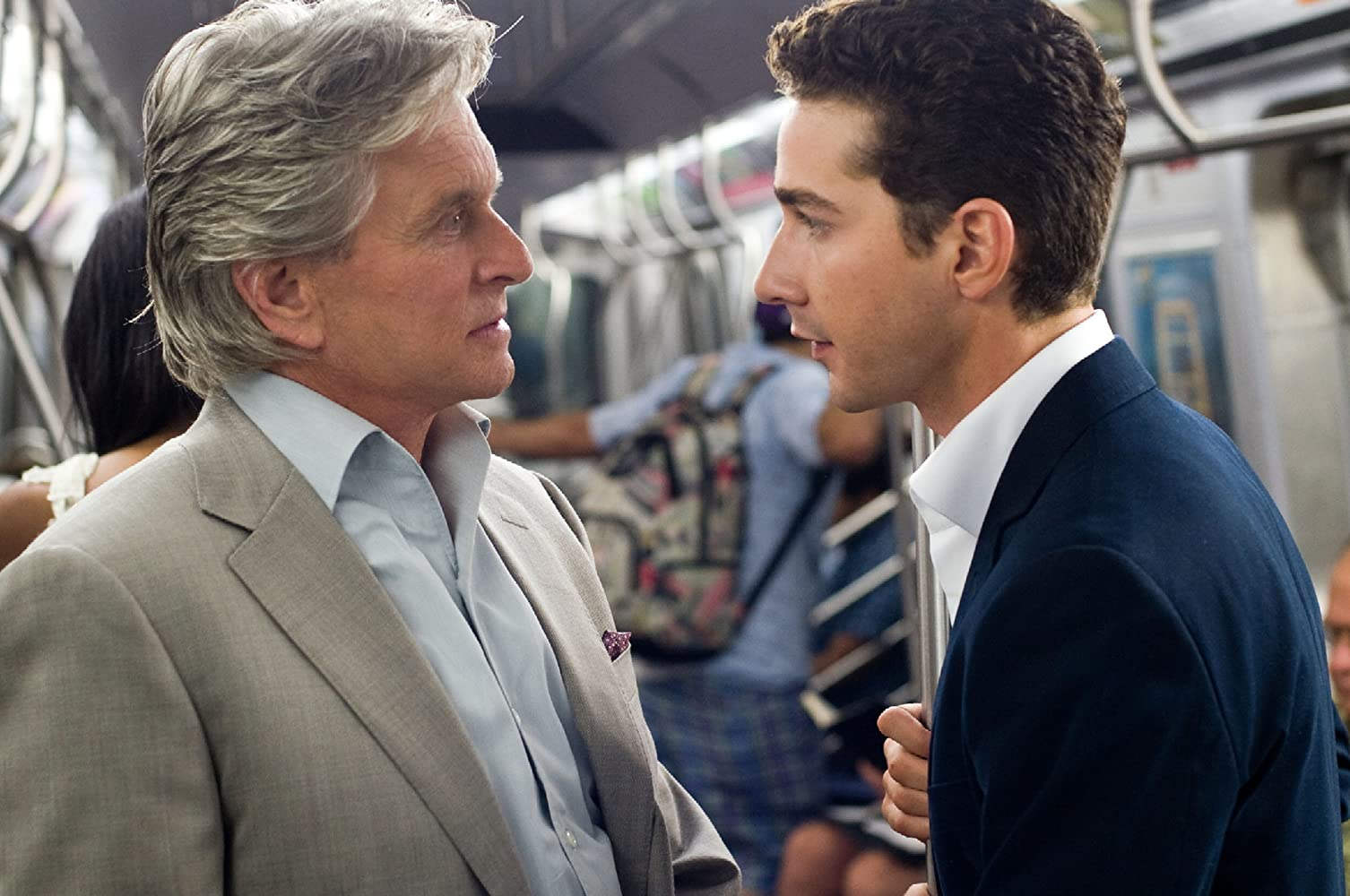 Michael Douglas and Shia LaBeouf in Wall Street: Money Never Sleeps (2010)