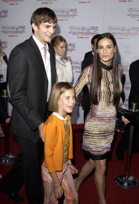 Demi Moore and Ashton Kutcher at Charlie's Angels: Full Throttle (2003)