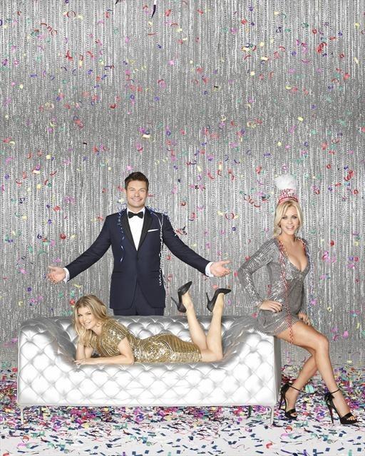 Jenny McCarthy, Fergie, and Ryan Seacrest in Dick Clark's Primetime New Year's Rockin' Eve with Ryan Seacrest 2013 (2012)
