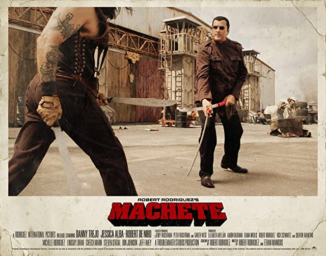 Steven Seagal and Danny Trejo in Machete (2010)