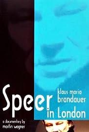 Klaus Maria Brandauer: Speer in London Poster