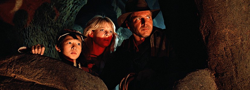 Harrison Ford, Kate Capshaw, and Jonathan Ke Quan in Indiana Jones and the Temple of Doom (1984)