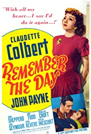 Remember the Day(1941) Poster - Movie Forum, Cast, Reviews