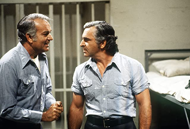 Robert Mandan and Donnelly Rhodes in Soap (1977)