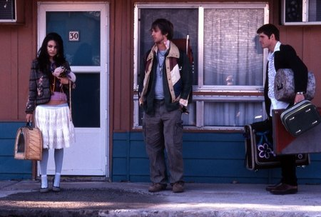 Mila Kunis, Benjamin Gourley, and Jon Heder in Moving McAllister (2007)