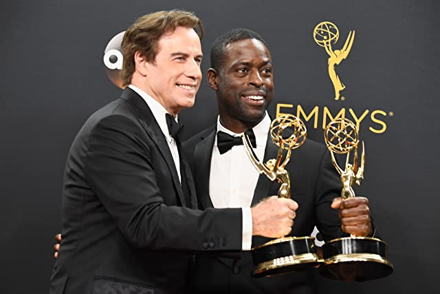 John Travolta and Sterling K. Brown at an event for The 68th Primetime Emmy Awards (2016)