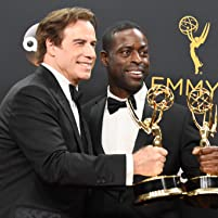 John Travolta and Sterling K. Brown at The 68th Primetime Emmy Awards (2016)