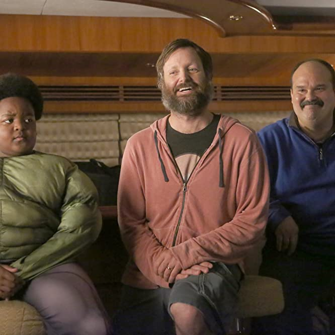 Will Forte, Mel Rodriguez, and Keith L. Williams in The Last Man on Earth: M.U.B.A.R. (2017)