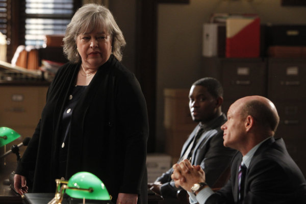 Kathy Bates, Paul McCrane, and Aml Ameen in Harry's Law (2011)
