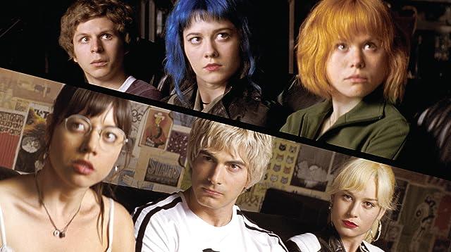 Michael Cera, Brie Larson, Alison Pill, Brandon Routh, Mary Elizabeth Winstead, and Aubrey Plaza in Scott Pilgrim vs. the World (2010)