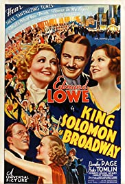 King Solomon of Broadway Poster
