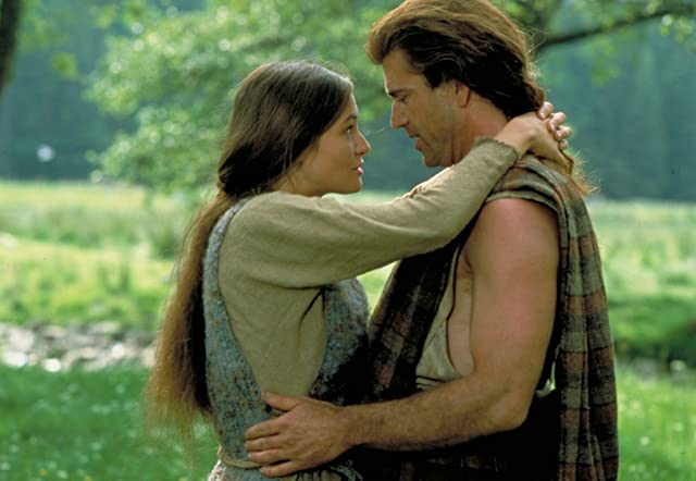 Mel Gibson and Catherine McCormack in Braveheart (1995)