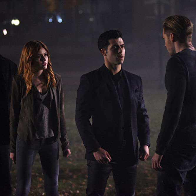Harry Shum Jr., David Castro, Katherine McNamara, and Dominic Sherwood in Shadowhunters: The Mortal Instruments (2016)