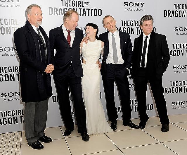 David Fincher, Stellan Skarsgård, Steven Zaillian, Daniel Craig, and Rooney Mara at an event for The Girl with the Dragon Tattoo (2011)