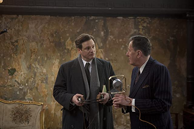 Colin Firth and Geoffrey Rush in The King's Speech (2010)