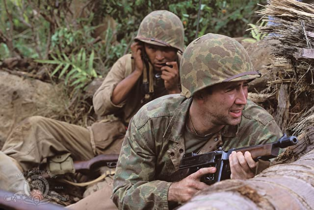 Nicolas Cage and Adam Beach in Windtalkers (2002)