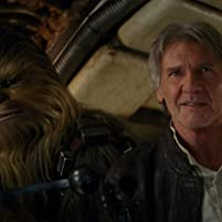 Harrison Ford and Peter Mayhew in Star Wars: Episode VII - The Force Awakens (2015)