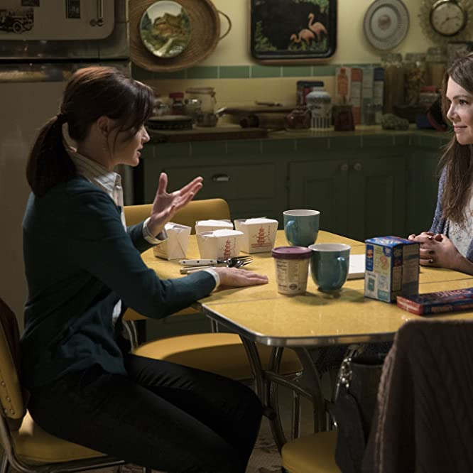 Alexis Bledel and Lauren Graham in Gilmore Girls: A Year in the Life (2016)