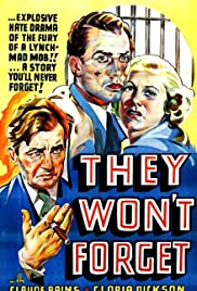 They Won't Forget (1937) Poster - Movie Forum, Cast, Reviews
