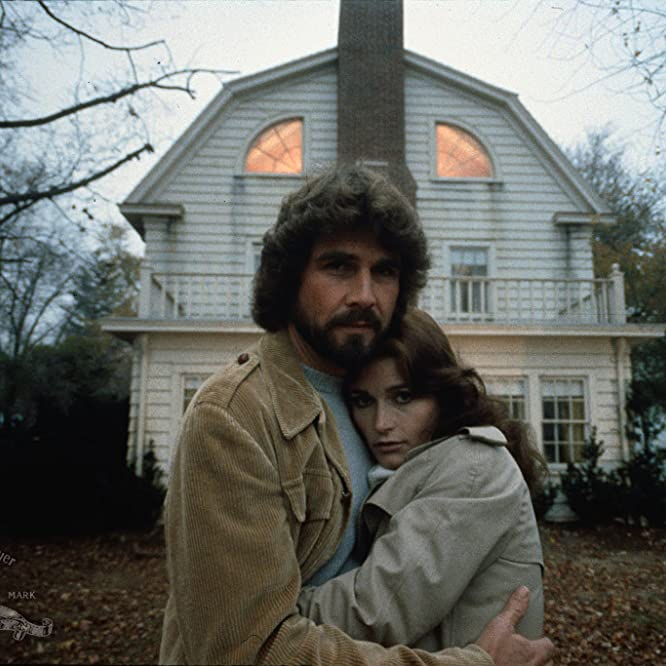 James Brolin and Margot Kidder in The Amityville Horror (1979)