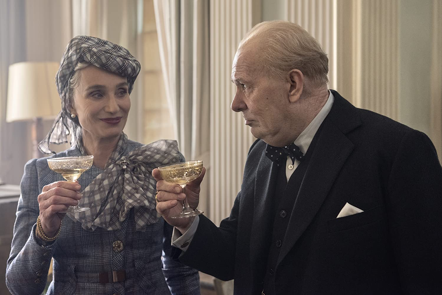 Gary Oldman and Kristin Scott Thomas in Darkest Hour (2017)