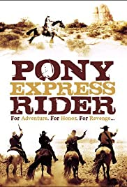 Pony Express Rider Poster