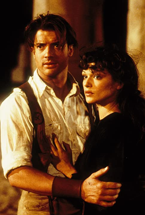 Brendan Fraser and Rachel Weisz in The Mummy (1999)
