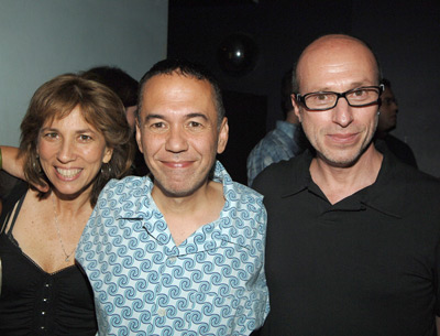 Robin Bronk, Gilbert Gottfried, and Mark Urman at The Aristocrats (2005)