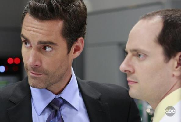 Jay Harrington and Jonathan Slavin in Better Off Ted (2009)