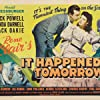 Linda Darnell, Edgar Kennedy, Jack Oakie, and Dick Powell in It Happened Tomorrow (1944)