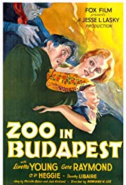 Zoo in Budapest (1933) Poster - Movie Forum, Cast, Reviews
