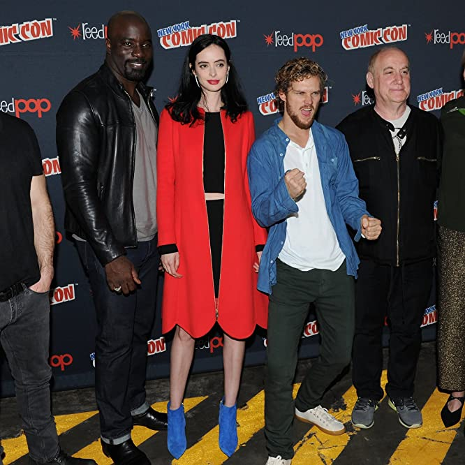Sigourney Weaver, Douglas Petrie, Charlie Cox, Krysten Ritter, Mike Colter, and Finn Jones at an event for The Defenders (2017)