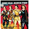 Maureen O'Hara, Alan Hale Jr., Dan O'Herlihy, and Cornel Wilde in At Sword's Point (1952)