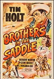 Brothers in the Saddle Poster