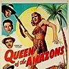 J. Edward Bromberg, Robert Lowery, John Miljan, Patricia Morison, and Amira Moustafa in Queen of the Amazons (1947)