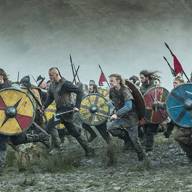 Jasper Pääkkönen, Alexander Ludwig, Jordan Patrick Smith, Marco Ilsø, and David Lindström in Vikings (2013)