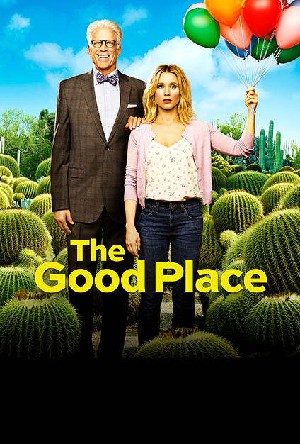 Ted Danson and Kristen Bell in The Good Place (2016)