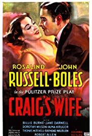 Craig's Wife (1936) Poster - Movie Forum, Cast, Reviews