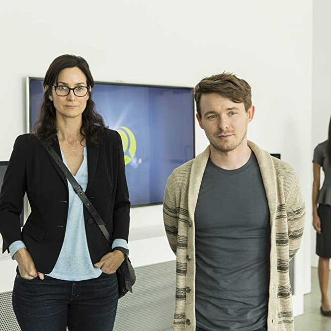 Carrie-Anne Moss, Marshall Allman, and Gemma Chan in Humans (2015)
