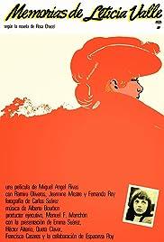 Memorias de Leticia Valle Poster